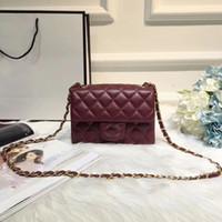 Wholesale Designer Lambskin Handbags - shoulder bags women real leather chain crossbody bag handbags famous designer purse cf real lambskin leather 18cm mini female bag