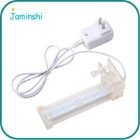 Wholesale Home Electricity - Crystal White AC220V Energy Electricity Saving Home Aquarium Fish Tank Waterproof Clip Lamp LED Light Ornament