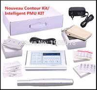 Wholesale Handpiece Kit - Wholesale- 2016 Cheap 1 set permanent makeup pen machine kit professional digital Swiss motor handpiece eyebrow tattoo device micro needles