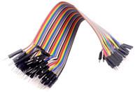 cabos de ligação em ponte macho venda por atacado-Atacado-40pcs dupont jumper de cabo dupont linha macho para macho dupont linha 20cm 1P 40P frete grátis