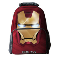 Wholesale Phone 42 - 42*29*18CM Boys Iron Man Backpacks Cartoon Avengers Lightening School Bags For Teenagers Marvel Shoulder Bags Travel Mochila