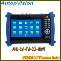 IPC-8600 Touch Screen CCTV Camera Tester Função AHD / CVI / TVI / SDI com Digital Multi-Meter + TDR Cable Test + localizador visual de falhas