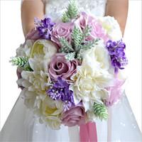 Wholesale Colorful Bridal Bouquets - New Arrival Magical Colorful Beautiful Colorful Bridal Bridesmaid Flower wedding bouquet artificial flower rose bridal bouquets