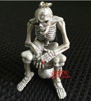 резиновые брелки милые оптовых-11.5*5.6*2.5 см милый творческий качество резиновый туалет скелет висит подвески туалет череп брелки брелки мобильный телефон цепи Оптовая