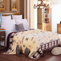 Wholesale New Throw - New high - quality autumn and winter cloud mink cashmere nap blanket thickening ultra - soft coral velvet double - sided French wool blanket