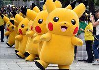 Wholesale Hot Corduroy - Wholesale-High material hot Pikachu mascot costume Pikachu adult size up free shipping