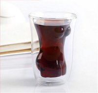 Wholesale Double Wall Heat Resistant Glasses - Free shipping new arrival whiskey decanters double wall wine glasses heat resistant beauty shape double wall glass bar glass cup
