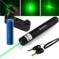 Wholesale Green Laser Charger - 10Mile Burning Green Laser Pointer Pen 5mw 532nm Military Powerful 301 Green Laser Pen +18650 Battery+ Charger
