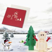 postal del saludo de la tarjeta de navidad d hecho a mano plegable pop up kirigami