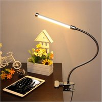Wholesale clip flexible desk lamp - led flexible table light USB adjustable desk lights 6W 18LED clip on night light for reading office table lamps led lighting