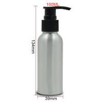 Wholesale Shampoo Packaging Bottles - 100ml Refillable Empty Aluminum Pump Bottle Shampoo Sub-bottling Sprayer Bottle Cosmetic Packaging 3 colors Sprayer 20pcs lot HN10