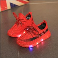 online Shopping Led Luminous Shoes - Spring and Autumn new children coconut boys and girls shoes sports LED luminous shoes casual trend