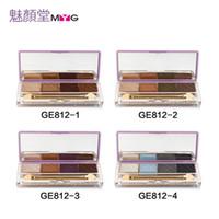 Wholesale Naked Basics Palette - Women Brand New Eyeshadow Basic Palette 4 Color Make Up Eyeshadow Korea Matte Makeup Naked Eye Shadow Powder