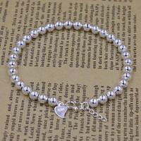 coreia da tendência venda por atacado-Coréia do sul tendência de jóias por atacado 925 pulseiras de contas de prata modelos de explosão pulseira de prata brilhante