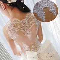 robes de mariée achat en gros de-6 Mètres / Lot De Luxe Raffiné avec Continental Car Bone Sequined Lace Robe De Mariée Accessoires Dentelle Garniture RS99