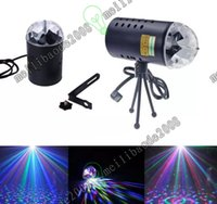Compra Mini Proiettori Di Sconto-Sconto di apertura US Mini 110V 220V mini proiettore laser 3w luce piena colore LED Crystal rotazione RGB stadio Light Party Stage Club DJ MYY