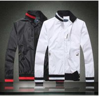 Wholesale Windbreaker Polo - Men's 2017 Autumn Winter Big Horse embroidered collar zipper windbreaker jacket Men's fashion polo coat casual jaqueta masculina