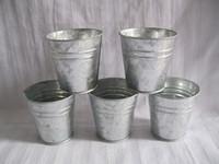 Wholesale nursery pots free shipping resale online - D7 H7CM Pure tin box wedding Succulent Planters flower pots planters Balcony Small Nursery pot