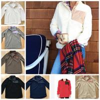 Wholesale High Quality Fleece Jackets - Sherpa Pullover women oversize jacket winter outwear women pullover high quality soft fleece Sherpa winter outwear monogrammed KKA2997