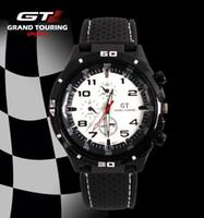 gt f1 uhren großhandel-2016 Mode F1 Racing Sport Quarz Luxus GT Uhren für Männer mit Silikonarmband Militär Armee Armbanduhren 12 Farben