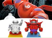 Wholesale Cartoons Robots For Wholesale - LOZ Diamond Building Blocks Toys For Children cartoon movie Baymax Pneumatic Robot DIY Block Kids Gifts Bricks Toy