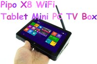 Wholesale Tablet 7inch Mini - Wholesale-Pipo X8 WiFi Tablet Mini PC TV Box 7Inch Window8.1 Android4.4 Dual Boot Intel Z3736F Quad Core HDMI 2GB ROM 32GB RAM 1280x800IPS