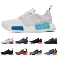 Wholesale Camo Golf Shoes - 2016 Fashion Sneakers NMD Running Shoes Runner Primeknit r1 Men and Women Athletic Shoes All White City Sock Camo PK Size 36-47