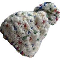 Wholesale White Ski Hats Womens - Fashion Womens Winter Warm Crochet Ski Hat Big Pom Pom Beanie Hat