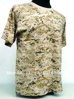 Wholesale Acu Xxl - Wholesale-Camouflage Short Sleeve T-Shirt Digital Desert Camo Digital ACU Camo Digital Camo Woodland CW