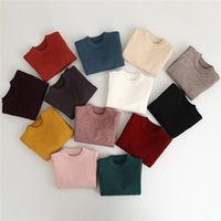 Wholesale Infant Cardigan Sweaters - Kids Girls Boys Pullover Sweater 2-7Year Baby Girl Boy Cardigan Sweaters Infant Knitted Coat 13 Colors Children Outwear Clothing B901