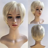 Wholesale Ladies Synthetic Wigs - Hair Straight Fashion Sexy Ladies Cheap Hair Beige Short Women Cosplay Wigs Synthetic Heat Resistant Hair Wig