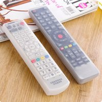 Wholesale Tv Remote Control Cover Case - Wholesale- Fashion Silicone TV Remote Control Cover Air Condition Control Case Waterproof Dust Protective Storage Bag Organizer