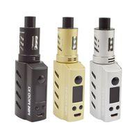 Wholesale Mini Electronic Atomizer Cigarette - Original Mlife Mini Mod K1 Starter Kits With 50W Box Mods in-built 1200mAh Battery 1.8ml Atomizer Vape Electronic Cigarette Kit