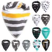 Wholesale Double Layers Tie - Baby Bibs Baby Saliva Towel Cotton Double Layer Triangular Towel Cartoon Fox Infant Toddler Bandana Triangle Scarf Wholesale ins New