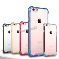 Wholesale iphone soft edges online – custom For iPhone i7 Plus Samsung S7 Edge Note Soft TPU Hard Acrylic Plastic Anti shock Dirt resistant Protective Cell Phone Case