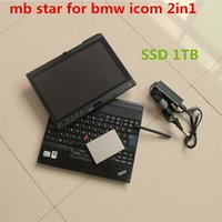Wholesale Install Windows Ssd - mb star c4 software with for bmw icom software 2IN1 with SSD 1tb hdd installed in x200t laptop windows 7 ready to use