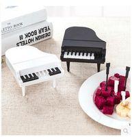 Wholesale Black Keys Signed - Piano Modeling Fruit Fork Household Black And White Keys Fruits Sign Reusable Eco Friendly Forks Portable 3 5zb B R