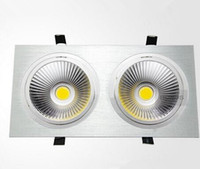 Lampengesicht Warm Kaufen -Double Faces Led COB Down Lights Lampe 120 Beam Angle Natur / Warm / Cool White Unterstützung Dimmable 110-240V für Heimtextilien