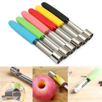Wholesale Red Pear Fruit - Stainless Steel Fruit Core Seed Remover for Apple Pear Corer Slicer Kitchen Tool Blue Green Pink Red Yellow Black Kitchen Tool #4183