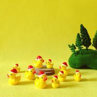 ördek dekor toptan satış-10 Adet / Noel ördekler / minyatürleri / güzel hayvanlar / peri bahçe gnome / moss teraryum dekor / el sanatları / bonsai / DIY malzemeleri / heykelcik