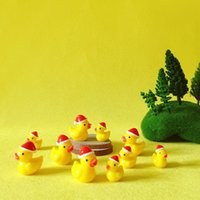 Wholesale Miniature Garden Christmas - 10 Pcs Christmas ducks miniatures lovely animals fairy garden gnome moss terrarium decor crafts bonsai  DIY supplies figurine