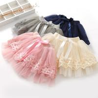 Wholesale korean wearing dresses - INS Korean New Children Skirt new Summer Girls lace tull Tutu Skirts kids Tutu Dress Baby Toddler Ballet Tiered Skirt Toddler Infant Wear