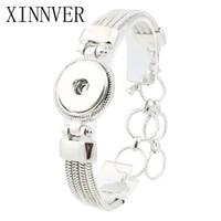 Wholesale button bracelets online - 18mm Snap Button Jewelry Antique Silver Snaps Bracelet Alloy Pulseira For Women Mens Diy Snap Button Bracelet