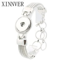 Wholesale silver toggle bracelets for sale - 18mm Snap Button Jewelry Antique Silver Snaps Bracelet Alloy Pulseira For Women Mens Diy Snap Button Bracelet