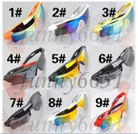 Wholesale Mixed Colours Wooden - summer newest style Only SUN glasses 9 colors sunglasses men Bicycle Glass NICE sports sunglasses Dazzle colour glasses A+++ free shipping