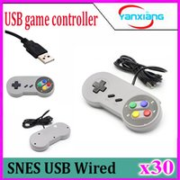 Color Controller retro 30PCS 2016 USB retro clásico Gamepad Joypad Joystick para Nintendo SNES SF Para PC con Windows para los / -MAC replaceme ZY-PS3-17