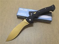 Wholesale free big knife for sale - Group buy The new Cold Steel Folding big dogleg KG D2 steel Gift Knife Pocket Knife Hunting Knife D2