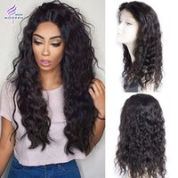 Wholesale Brown Virgin Wavy - Brazilian Virgin Hair Human Hair Wigs Pre Plucked Lace Front Wigs Wet and Wavy Human Hair Brazilian Water Wave Lace Front Wigs