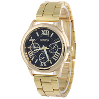 Wholesale batteries for scale resale online - Roman Scale Three Eye Simple Style Stainless Steel Geneva Watch for Mens Business Casual Analog Quartz Luxury Watch Brand Man Dress Watch