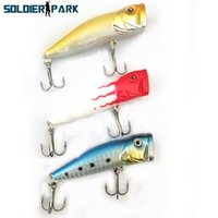 3pcs / lot Fish Lure Culter Ray Flottant Petit Water Water Popper Lure Topwater Jig Wobblers Bionic Popper Bait avec Treble Hook order $ 18no tra
